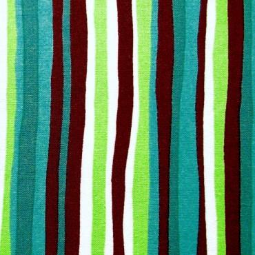 Rayas en turquesa, verde y marrón