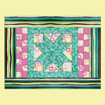 "Mini quilt ""Estrella aguamarina"""