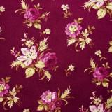 Ramos de flores sobre color vino
