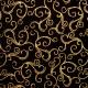 Swirls dorados sobre negro
