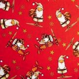 Papá Noel Y Rudolf sobre rojo
