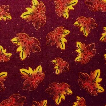 Tela patchwork: hojas de otoño