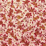 Tela patchwork: florecitas sobre rosa palo