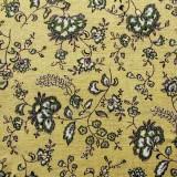 Tela patchwork: flores vintage sobre caqui