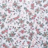 Tela patchwork: forecitas rosas sobre azul claro