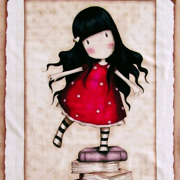 Panel patchwork Simply Gorjuss muñequita Gorjuss