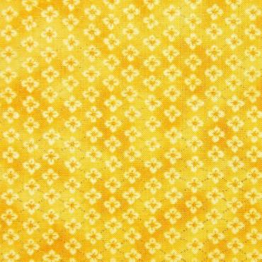 Tela patchwork florecitas en amarillo y dorado