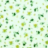 Tela patchwork florecitas en verde 1