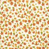 Tela patchwork florecitas en terracota 1