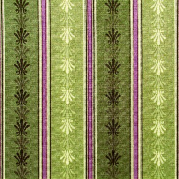 Tela patchwork Château cenefa verde