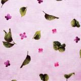 Tela patchwork Château flores y hojas de lila 1