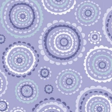 Tela patchwork medallones en lila, lavanda y azul