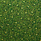 Tela patchwork: estrellas y ramitas de acebo 1
