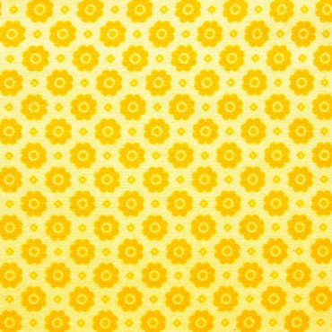 Tela patchwork flores amarillas