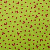 Tela patchwork cranberries sobre verde 1