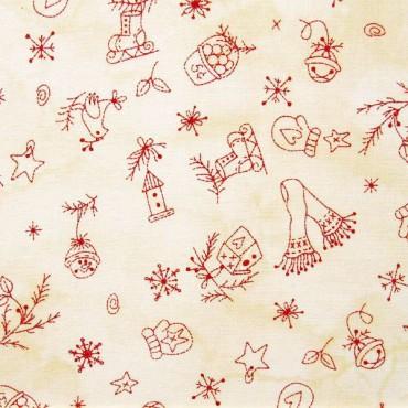 Tela patchwork adornos country de navidad - Adornos de navidad de tela ...