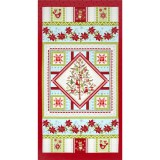 Panel patchwork de Navidad O Christmas Tree