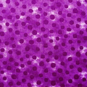 Tela patchwork topos en morado