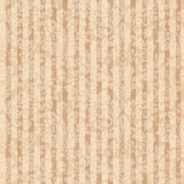 Tela patchwork Mirabelle rayas adamascadas en terracota