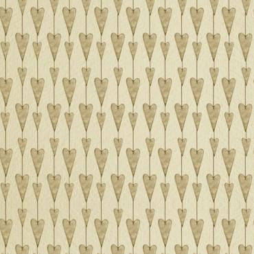 Tela patchwork Mirabelle guirnalda de corazones en beige