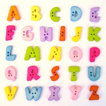 Botones en forma de letra