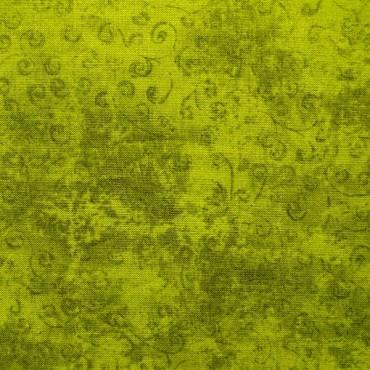 Tela patchwork Quilting Temptations verde oliva