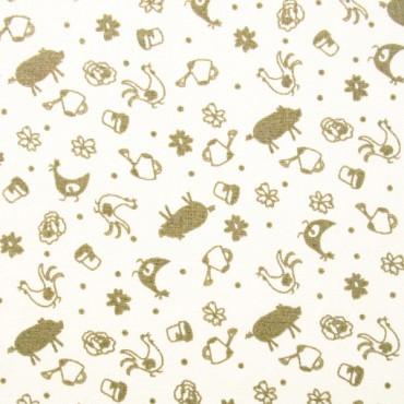 Tela patchwork motivos de granja y huerta