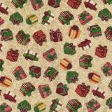 Tela patchwork Christmas Elegance regalos de Navidad