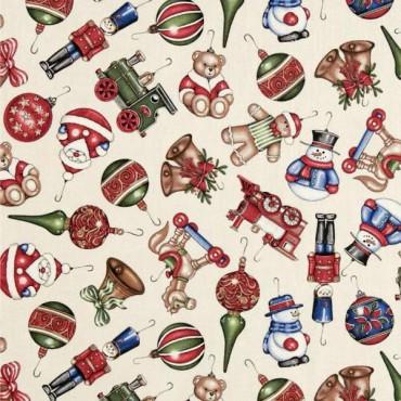 Tela patchwork Christmas Elegance adornos de Navidad