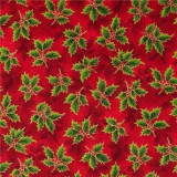 Tela patchwork Holiday Accents Classics ramitas de acebo