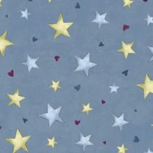 Tela patchwork Gorjuss Rainbow Dreams estrellas sobre azul