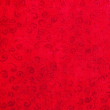 Tela patchwork Quilting Temptations rojo cereza
