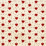Tela patchwork country corazones rojos con lunarcitos 1
