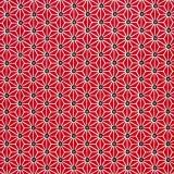 Tela patchwork simetría de estrellas en bermellón 1