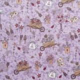 Tela patchwork Pocketful of Daisies cosas de jardín sobre lavanda 1