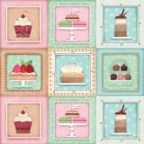 Tela patchwork Sugary Sweet delicatessen dulces en cuadros1