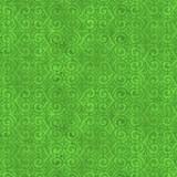 Tela patchwork Floral Fantasy simetría de espirales verde