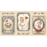 Panel patchwork Mirabelle La vie en Rose beige
