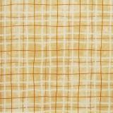 Tela patchwork cuadros en beige y mostaza 1