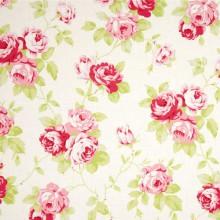 Tela patchwork Lulu Roses rosas sobre blanco
