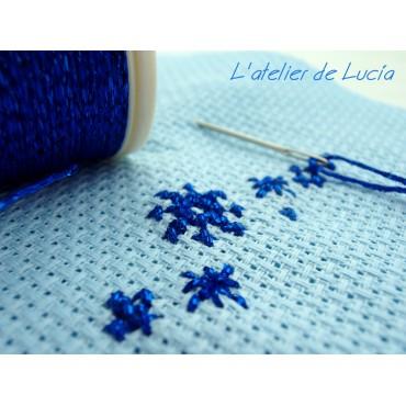 Tela Aida 14 en azul claro