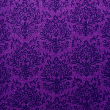 Tela patchwork adamascado morado oscuro