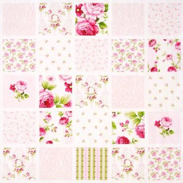 Tela patchwork Symphony Rose cuadros de flores