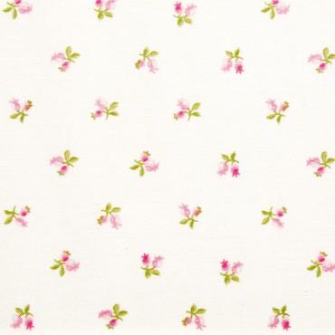Tela patchwork Symphony Rose capullitos de rosa sobre blanco