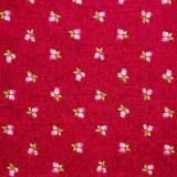 Tela patchwork Symphony Rose capullitos de rosa sobre frambuesa 1