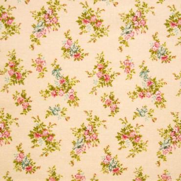 Tela patchwork japonesa Flower Points en melocotón