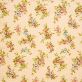 Tela patchwork japonesa Flower Points en melocotón 1