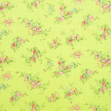 Tela patchwork japonesa Flower Points en verde 1
