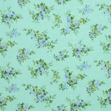 Tela patchwork japonesa Flower Points en azul verdoso 1