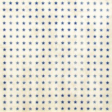 Tela patchwork Correspondence estrellitas azules